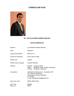 Currículum Vitae completo