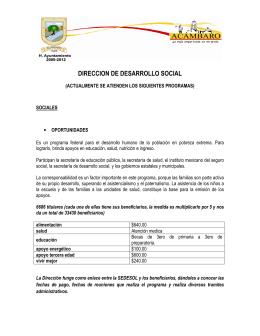 DIRECCION DE DESARROLLO SOCIAL