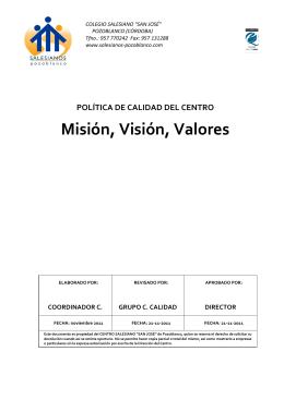 Misión, Visión, Valores-poz