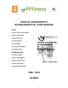 Mannual del curso Flora Indígena - Jardín Botánico