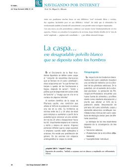 La caspa... - Actualizaciones Terapeuticas Dermatologicas y Esteticas