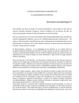 EL DISCERNIMIENTO ESPIRITUAL - Fundación Universitaria