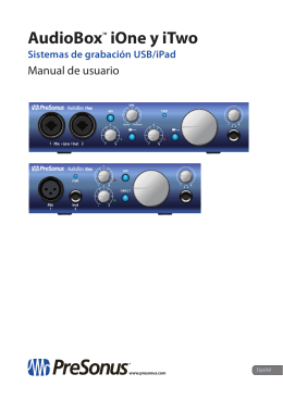 AudioBox™ iOne y iTwo