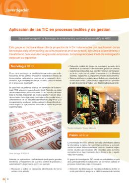 Aplicación de las TIC en procesos textiles y de
