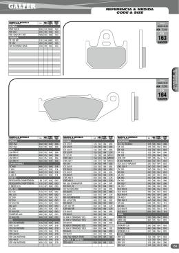 referencia & medida code & size 159 FD FD