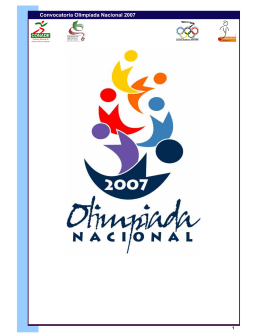 Olimpiada Nacional 2007