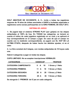 GOLF AMATEUR DE OCCIDENTE, AC, invita a todas las jugadoras