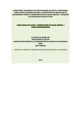 ddirectorio ttelefónico de instituciones de apoyo y eentidades