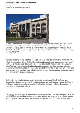 Almerimar ya tiene su hotel cinco estrellas - El Ejido