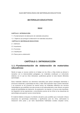 Fundamentación de elaboración de materiales educativos