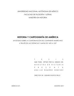 HISTORIA Y CARTOGRAFÍA DE AMÉRICA