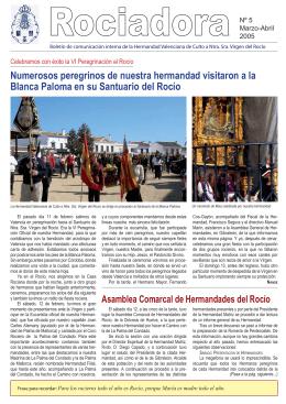 Boletín Rociadora Numero 5 - Hermandad Valenciana de Culto