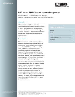 M12 versus RJ45 Ethernet connection systems