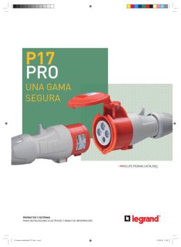 catálogo de las nuevas tomas industriales P17 PRO