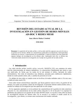 REVISIÓN DEL ESTADO ACTUAL DE LA INVESTIGACIÓN