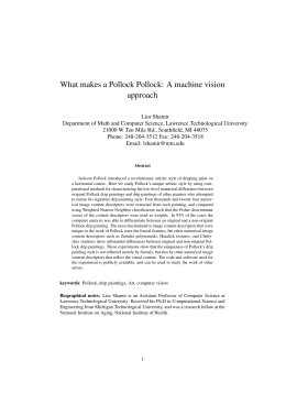 What makes a Pollock Pollock: A machine vision approach