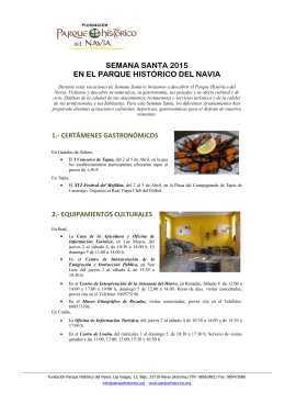 SEMANA SANTA 2015 EN EL PARQUE HISTÓRICO DEL NAVIA