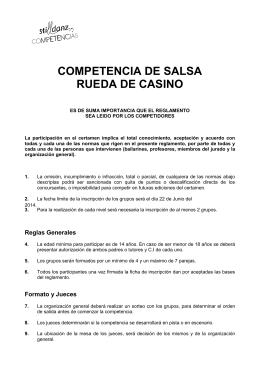 COMPETENCIA DE SALSA RUEDA DE CASINO