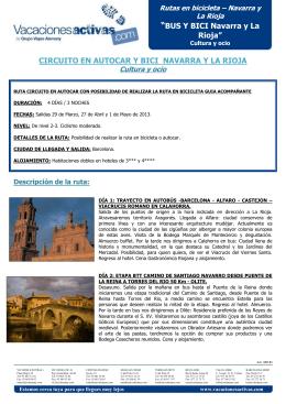 """""""BUS Y BICI Navarra y La Rioja"""" CIRCUITO EN AUTOCAR Y BICI"""