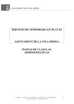 SERVICIO DE TEMPORADA EN PLAYAS