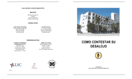 como contestar su desalojo - Legal Services of Greater Miami, Inc.