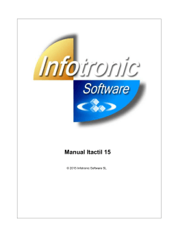 Manual Itactil 15 - Infotronic Software