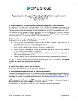 """Programa de Incentivos para """"Proprietary Trading"""