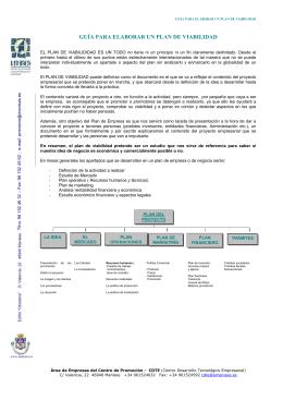 Guía para elaborar un plan de viabilidad. Ayuntamiento de Manises