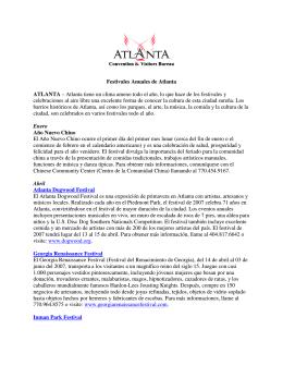 Festivales Anuales de Atlanta ATLANTA – Atlanta tiene