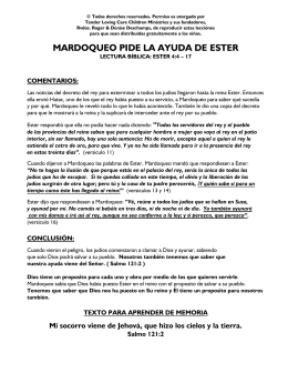 mardoqueo pide la ayuda de ester - Tender Loving Care Children
