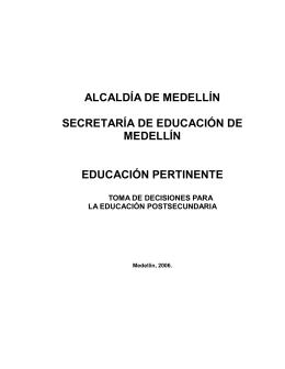 AlcaldíadeMedellín_CartillaDecisionesEducaciónPostsecundaria