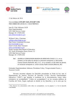 13 de febrero de 2014 VÍA FACSÍMILE (919)