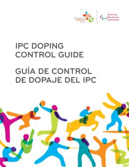 IPC doPIng Control guIde guía de Control de doPaje del IPC