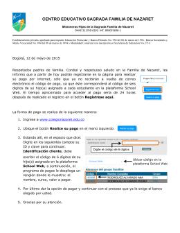 CENTRO EDUCATIVO SAGRADA FAMILIA DE NAZARET