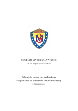 COLEGIO MATER SALVATORIS - Mater Salvatoris School Of Madrid