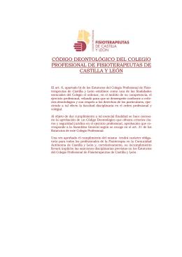 este enlace - Colegio Profesional de Fisioterapeutas de Castilla y