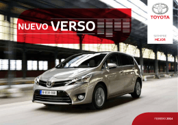 NUEVO VERSO - Toyota Sala de prensa