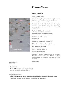 Catálogo. (PDF - 115 Kb) - Centro Atlántico de Arte Moderno