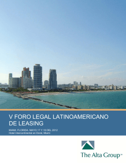 V FORO LEGAL LATINOAMERICANO DE LEASING