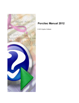 Porcitec Manual 2012