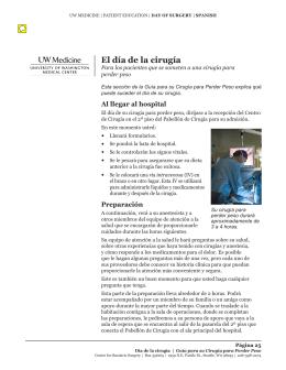 El día de la cirugía - Health Online