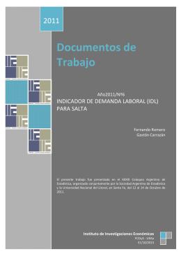 DT 2011Nº6 - Romero-Carrazán - Facultad de Ciencias Económicas