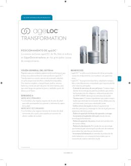 Página de Producto - ageLOC Transformation