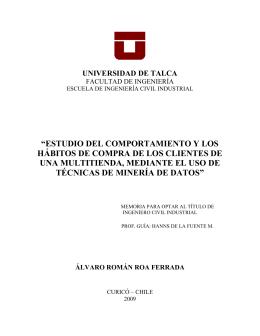 álvaro román roa ferrada - DSpace Biblioteca Universidad de Talca