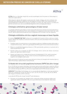 DETECCIÓN PRECOZ DE CÁNCER DE CUELLO UTERINO