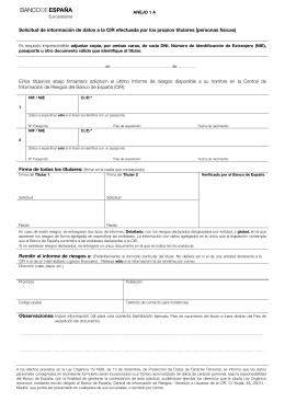 Formulario de solicitud informe personas físicas
