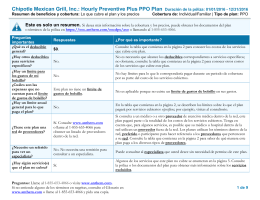Chipotle Mexican Grill, Inc.: Hourly Preventive Plus PPO Plan