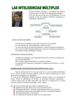"""""""Teoría de las Inteligencias Múltiples""""."""