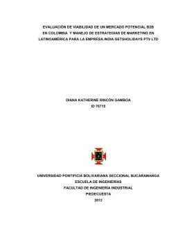 evaluación de viabilidad de un mercado potencial b2b en colombia