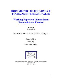 DOCUMENTOS DE ECONOMÍA Y FINANZAS INTERNACIONALES